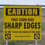 Sinnloses Schild