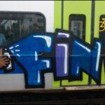 Bären-Graffiti auf BLS-Zug
