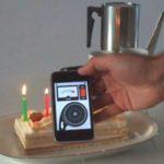 iPhone bläst Kerzen aus