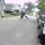 Männchen mit dem Motorrad