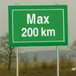 Max 200km