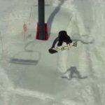 Skilift-Stunt